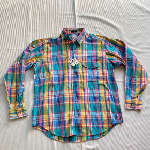 Vintage Gant Salty Dog The New Flannel Plaid Shirt